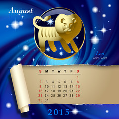 Zodiac Calendar page