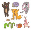 set of old plush color toys - 72860477