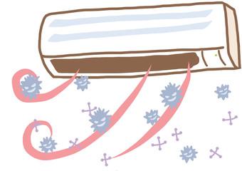 空気中のばい菌