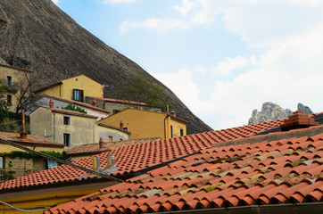 Mountains top from the roof of Castelmezzano