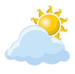 Погода значок - солнце и облака