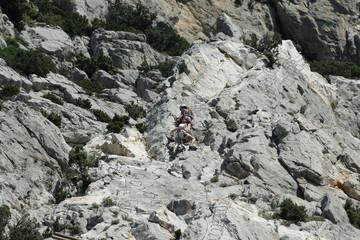 Via ferrata, Saint-paul-de-fenouillet,Pyrénées