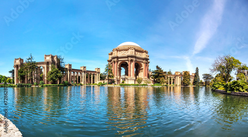 The Palace of Fine Arts panorama in San Francisco
