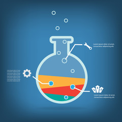 Business experiment, Colorful vector design