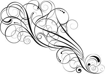 Swirl spiral design