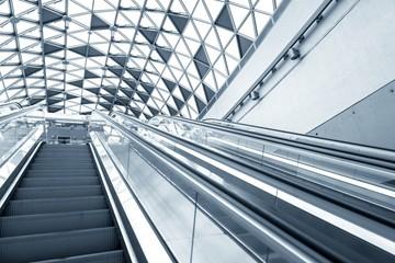 Futuristic architecture with large windows
