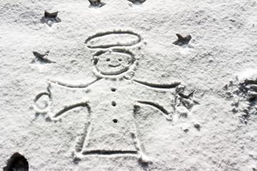 Engel im Schnee