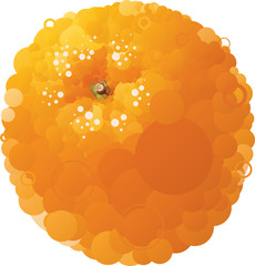 Vector orange that consists of circles