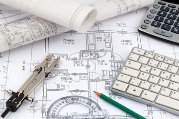 Bauplan für ein Haus