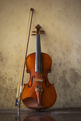still life with vintage violin