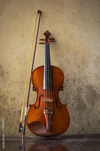 still life with vintage violin