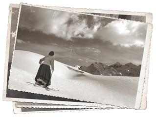 Vintage photos women on skis