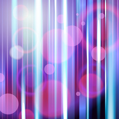 Dark violet abstract background with vertical glowing neon rays