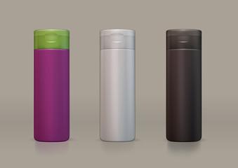 vector plastic bottle for new design shampoo or shower gel