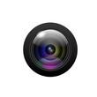 Camera lens on white background. Vector - 72865458