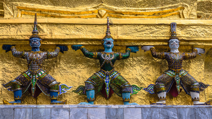 Details of The Temple of the Emerald Buddha in Bangkok