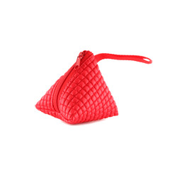 coin purse on isolated white background