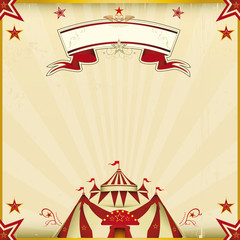 Fantastic color circus square card