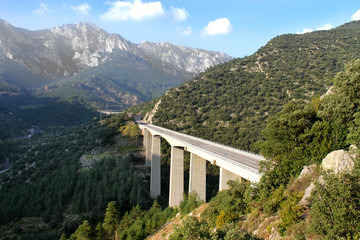 Beautiful spanish landscape with the bridge