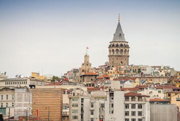 The Galata Tower in Beyoglu district, Istanbul