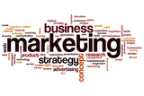 Marketing word cloud poster