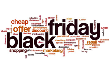 Black friday word cloud