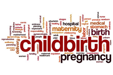 Childbirth word cloud