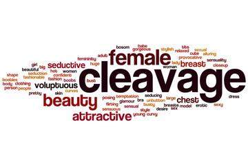 Cleavage word cloud
