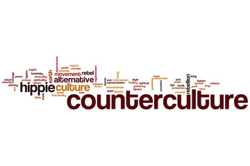 Counterculture word cloud