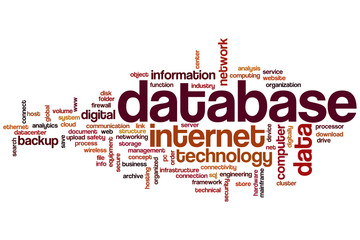 Database word cloud