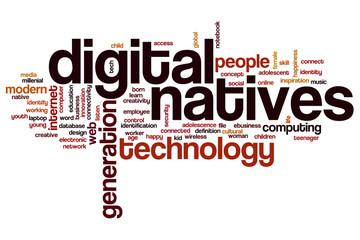 Digital natives word cloud