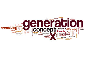 Generation x word cloud