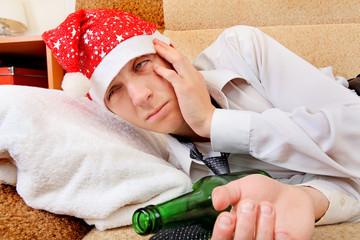 Drunken Teenager in Santa Hat