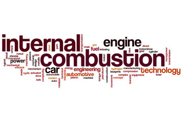 Internal combustion word cloud