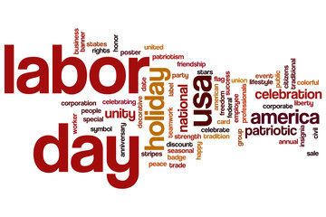 Labor day word cloud