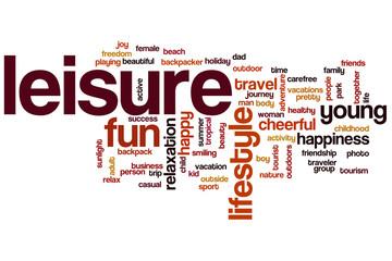 Leisure word cloud
