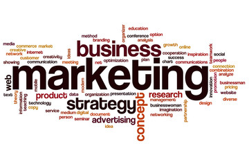 Marketing word cloud