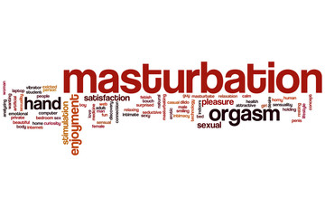 Masturbation word cloud
