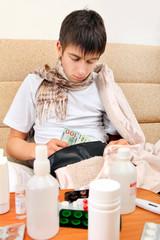 Sick Teenager checks the Wallet
