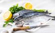 River trout with fresh tomatoes, lemon and herbs - 72867660