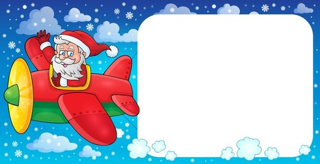 Santa Claus in plane theme image 2