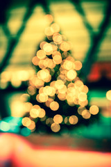 Colorful light bokeh in Christmas night