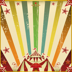 Fantastic color circus square background