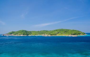 Island on the blue sea