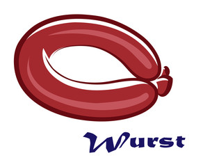 Wurst or sausage vector icon