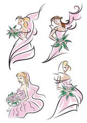 Beautiful brides set