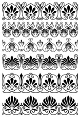 Vintage black and white ornamental borders