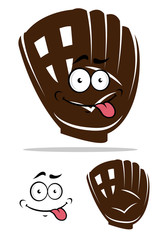 Cute cartoon baseball glove