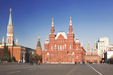View of the Red square, Moscow, Russia