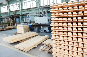 wood lumber materials at plant